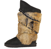 UGG Fox Fur Classic Tall Black