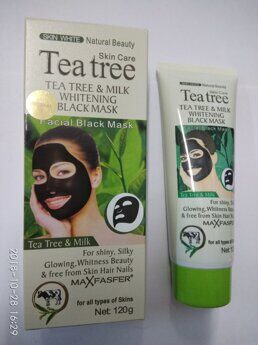 Маска от черных точек  Tea Tree &Milk Whitening Black  Mask, 120G