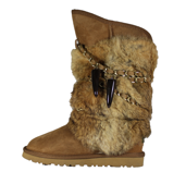UGG Fox Fur Classic Tall Chestnut